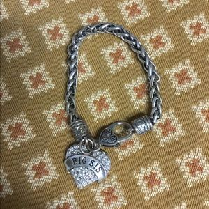 "Jewelry - ""Big Sis"" Bling Heart Bracelet"
